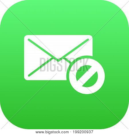 Vector Warning   Element In Trendy Style.  Isolated Spam Icon Symbol On Clean Background.