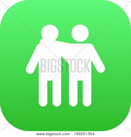 Vector Friendship Element In Trendy Style.  Isolated Friend Icon Symbol On Clean Background.