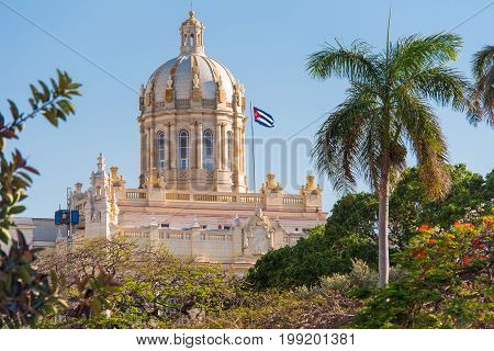 View Of The Museum Of The Revolution, Havana, Cuba. Copy Space.