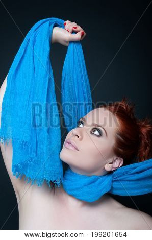 Modern Stylish Female With Red Hair