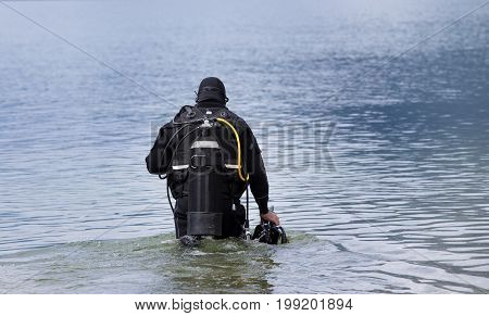 Diver Entering Water