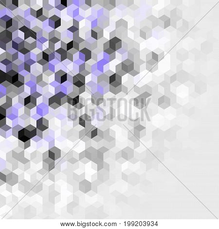 Geometric abstract pattern in low poly pixel art style. Small cubes.