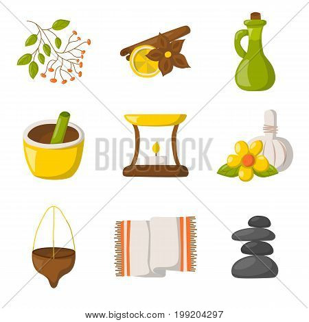 Vector Cartoon Ayurveda Icons