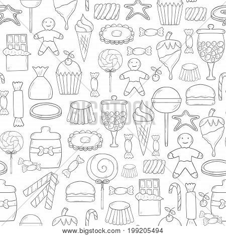 Vector Hand Drawn Candy Chop Background