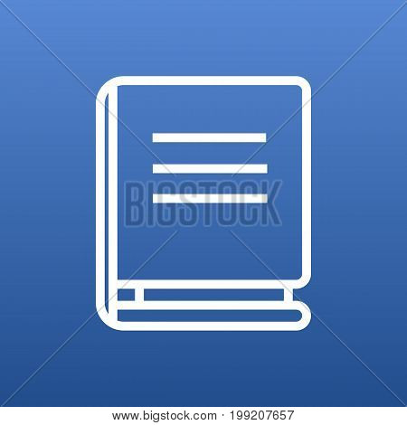 Vector Encyclopedia Element In Trendy Style.  Isolated Textbook Outline Symbol On Clean Background.