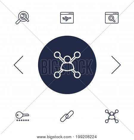 Collection Of Stock Exchange, Wrench, Application Analytics And Other Elements.  Set Of 6 Engine Outline Icons Set.
