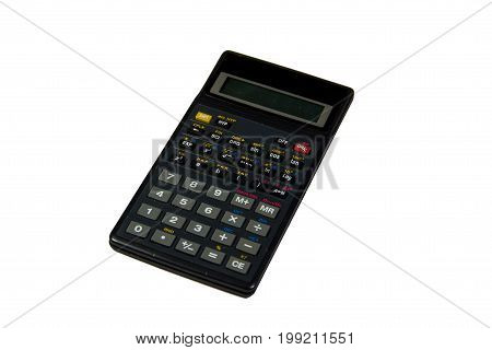 Scientific calculator isolated on the white background