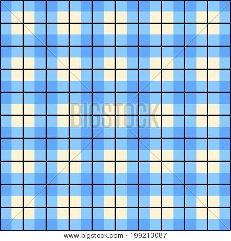 pastel blue plaid gingham background. Checkered pattern