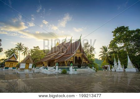 Wat Xieng Thong (Golden City Temple) in Luang Prabang Laos. Xieng Thong temple is one of the most important of Lao monasteries Amazing in Laos.