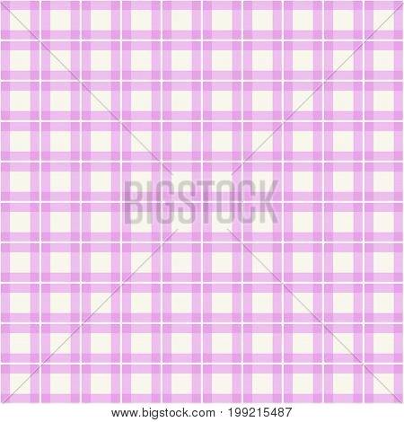 pastel pink plaid gingham background. Checkered pattern