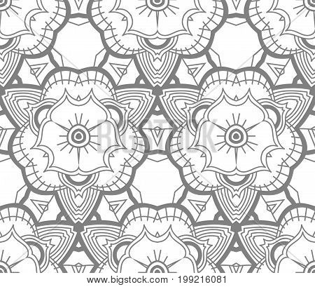 Seamless Abstract Pattern. Monochrome Background. Gray Wallpaper