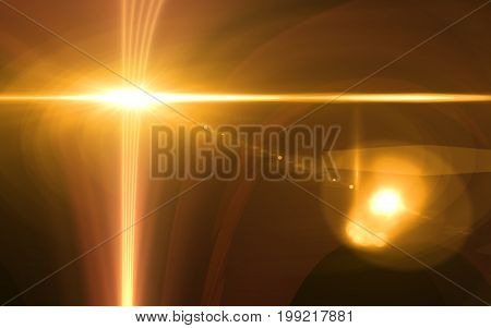 Abstract background lighting flare special effect.Len flare effect.Sunrise flare