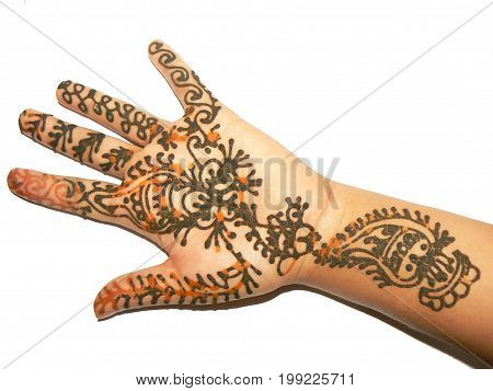 Mehndi Henna hand design on 1st of Saaun, Nepal