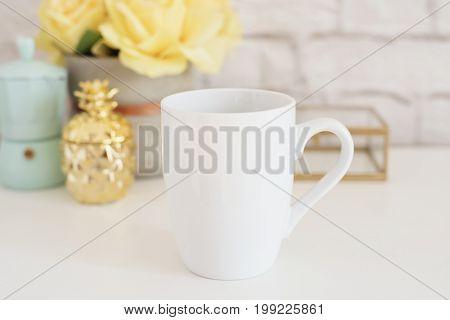 Mug Mockup. Coffee Cup Template. Coffee Mug Printing Design Template. White Mug Mockup. Blank Mug Pr