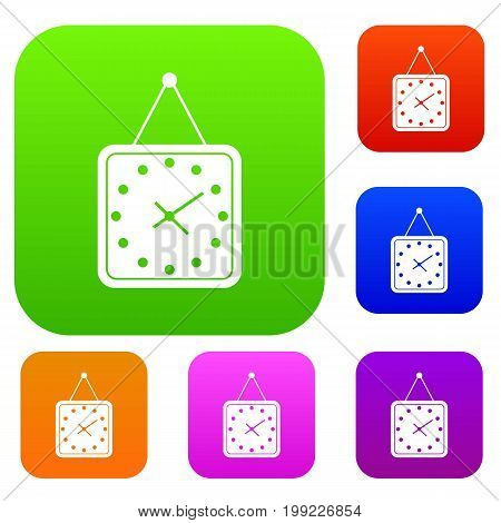 Watch set icon in different colors isolated vector illustration. Premium collection