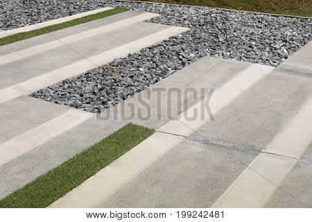 Texture or pattern of paving walkway background in the park.