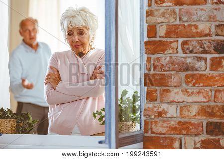 Elder Woman Crying