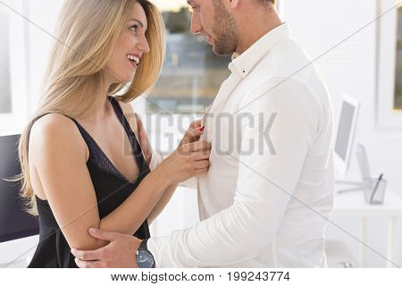 Blond Woman And A Man