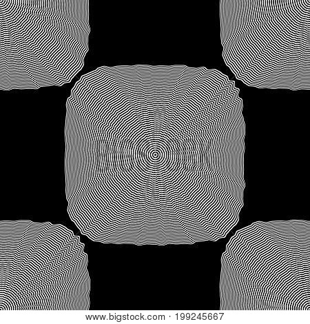Design Seamless Monochrome Square Background