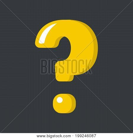 Question mark sign icon isolated on background. Vector stock.