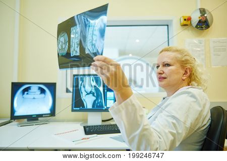 computed tomography or scanner test analysis