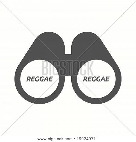 Isolated Binoculars With    The Text Reggae