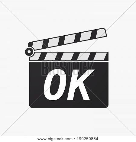 Isolated Clapper Board With    The Text Ok