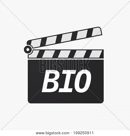 Isolated Clapper Board With  The Text  Bio