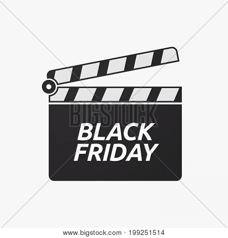 Isolated Clapper Board With    The Text Black Friday