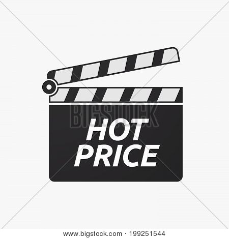 Isolated Clapper Board With    The Text Hot Price