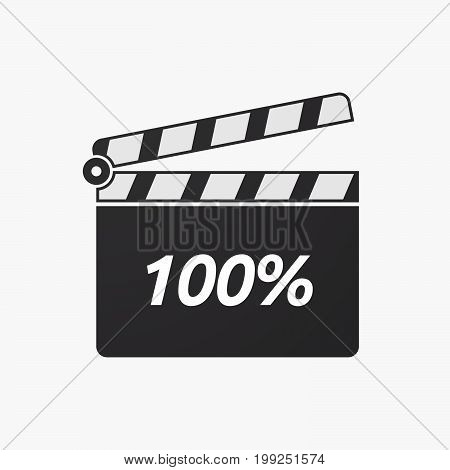 Isolated Clapper Board With    The Text 100%