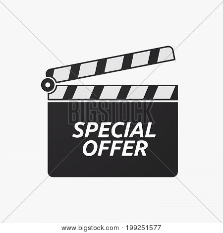 Isolated Clapper Board With    The Text Special Offer