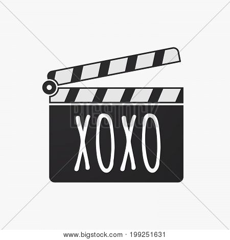 Isolated Clapper Board With    The Text Xoxo