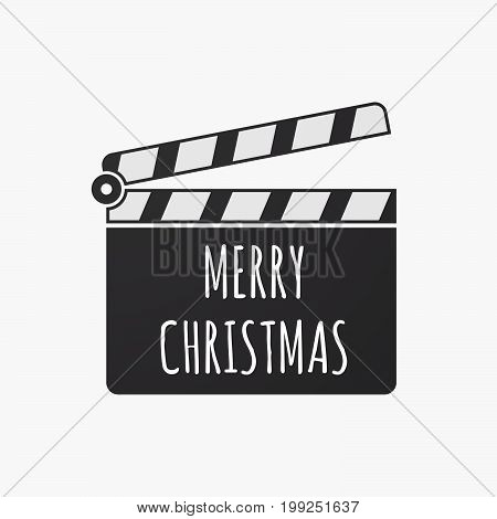 Isolated Clapper Board With    The Text Merry Christmas