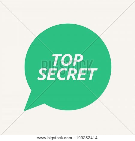 Isolated Speech Balloon With    The Text Top Secret