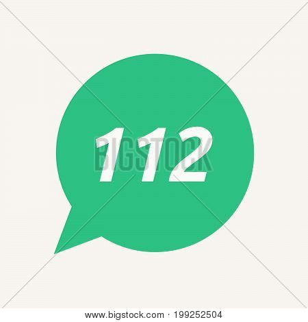 Isolated Speech Balloon With    The Text 112