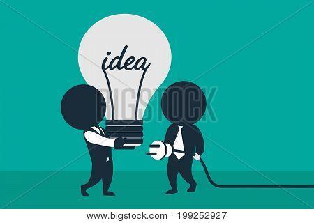Completing Idea. Team work cooperation.. Business illustration.