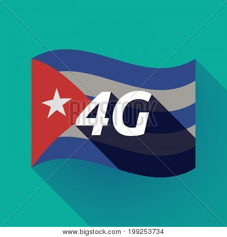 Long Shadow Cuba Flag With    The Text 4G