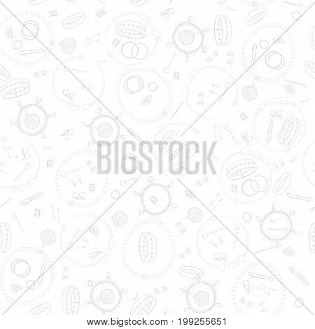 Jewelry, set, luxury collection, seamless pattern. Vector design isolated illustration. Gray outlines, white background.