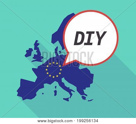 Long Shadow Eu Map With    The Text Diy
