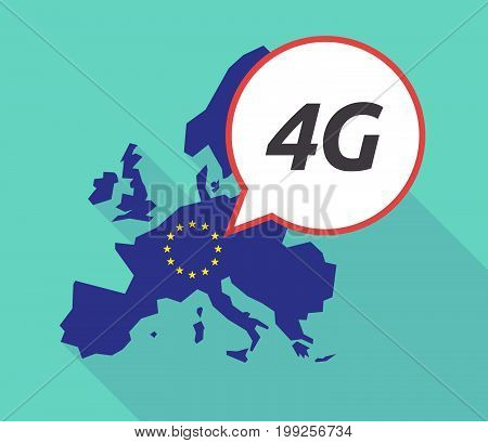 Long Shadow Eu Map With    The Text 4G