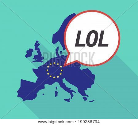 Long Shadow Eu Map With    The Text Lol