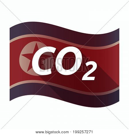 Isolated North Korea Flag With    The Text Co2