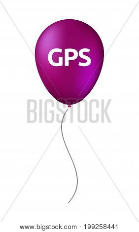 Isolated Balloon With  The Global Positioning System Acronym Gps