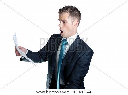 Shocked Business Man