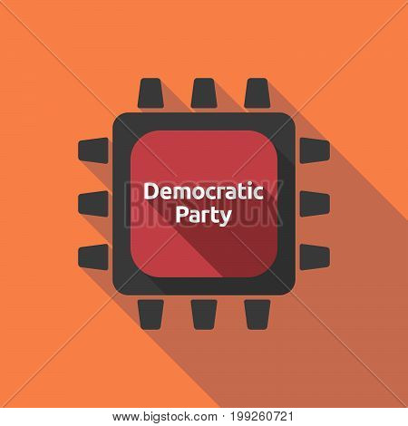 Long Shadow Cpu With  The Text Democratic  Party