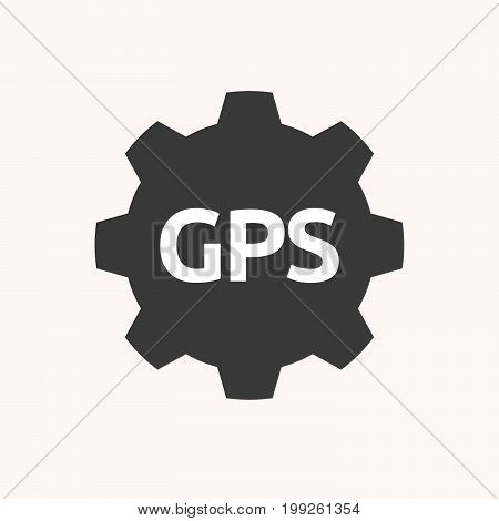 Isolated Gear With  The Global Positioning System Acronym Gps