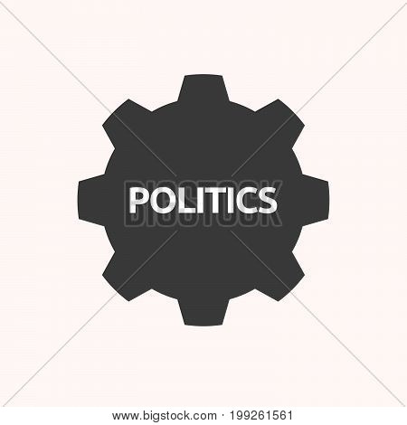 Isolated Gear With  The Text Politics