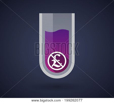 Chemical Test Tube With  A Pound Sign  In A Not Allowed Signal