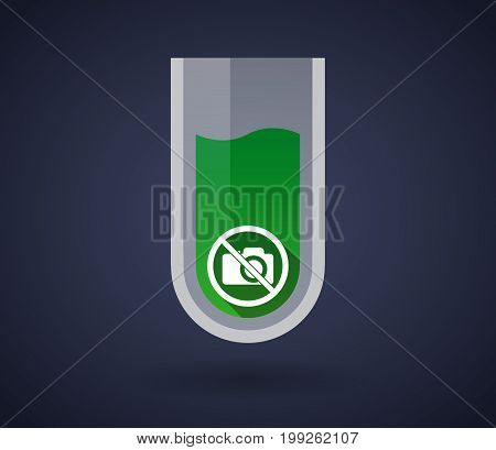 Chemical Test Tube With  A Photo Camera  In A Not Allowed Signal